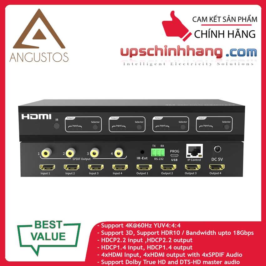 ANGUSTOS KVM0404K6P - 4K HDMI Matrix Switch 4 x 4