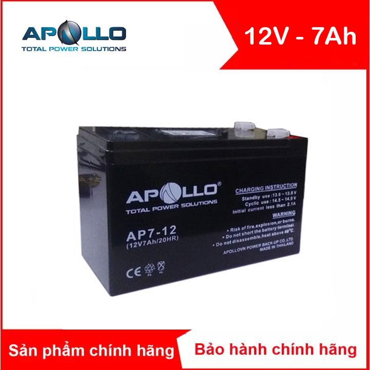 Bình ắc quy kín khí APOLLO 12V-7Ah (AP7-12)