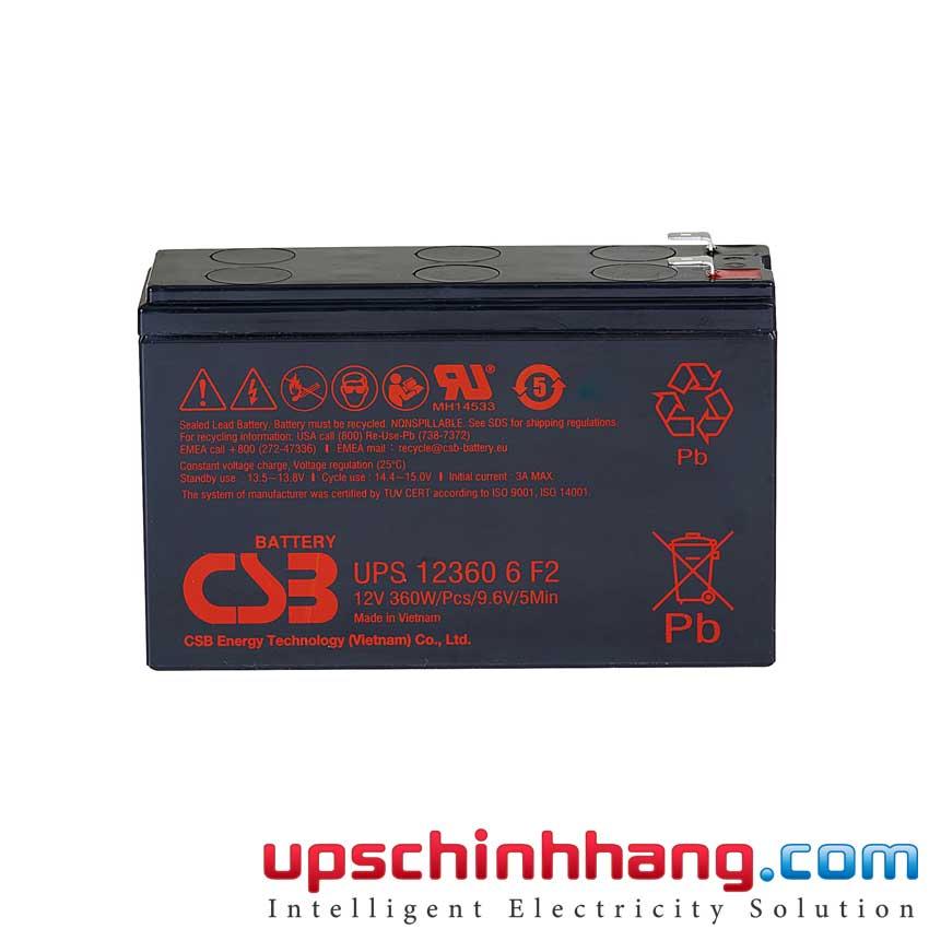 Ắc quy CSB UPS123606F2 12V 6Ah