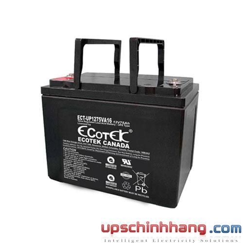 Ắc quy ECOTEK 12V-75Ah (ECT-UP1275VA16)