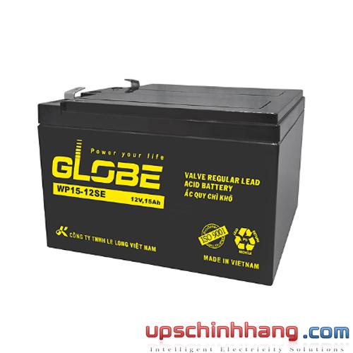Bình ắc quy kín khí Globe 12V-15Ah (WP15-12SE)