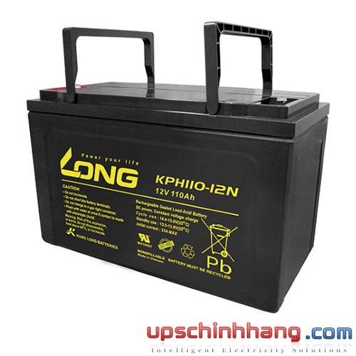 Bình ắc quy kín khí Long 12V-110Ah (KPH110-12N)