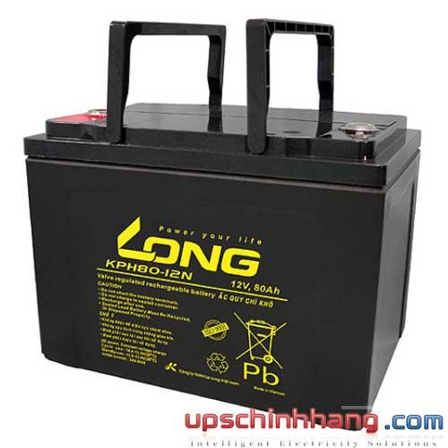 Bình ắc quy kín khí Long 12V-80Ah (KPH80-12N)