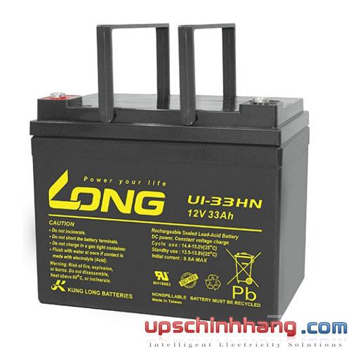 Bình ắc quy kín khí Long 12V-33Ah (U1-33HN)