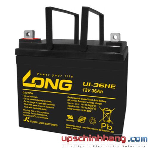 Bình ắc quy kín khí Long 12V-36Ah (U1-36HE)