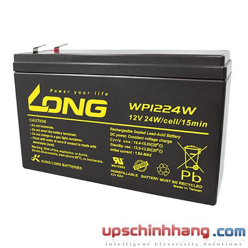 Bình ắc quy kín khí Long 12V-6Ah (WP1224W)