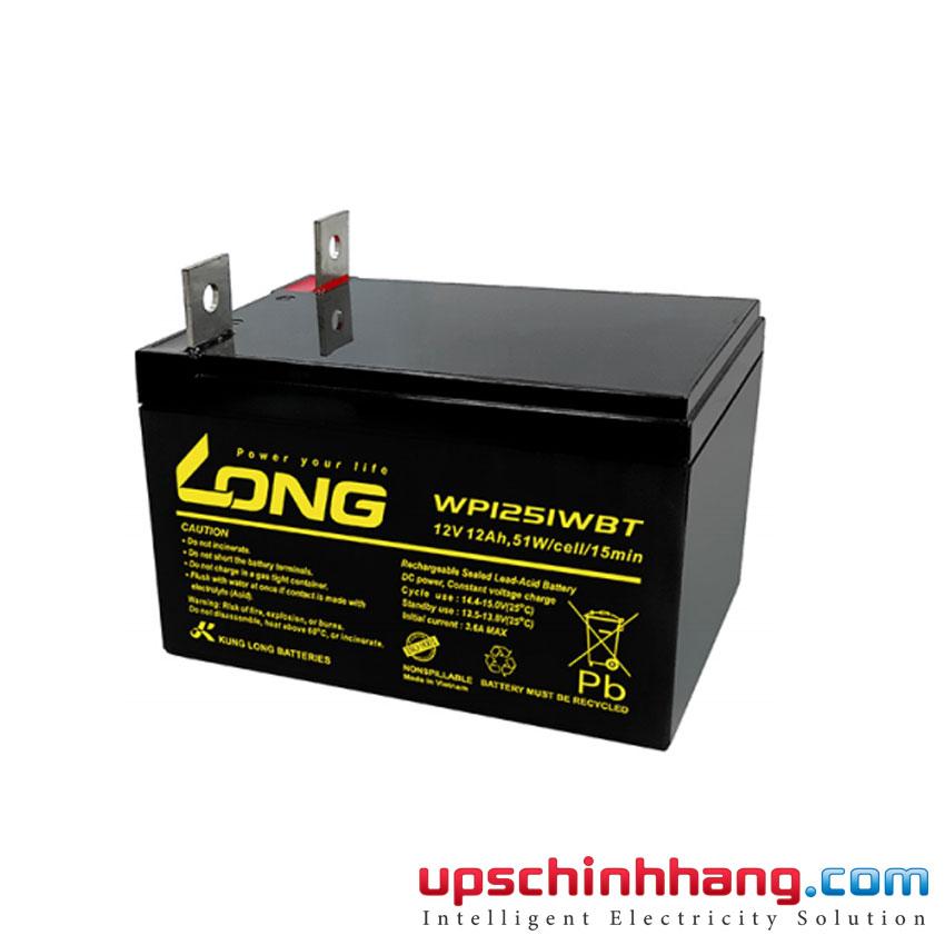 Ắc quy kín khí LONG WP1251WBT 12V-51W-15Min (12V-12Ah)