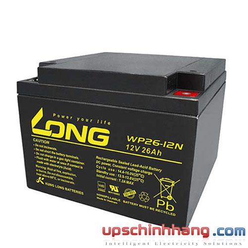 Bình ắc quy kín khí Long 12V-26Ah (WP26-12N)