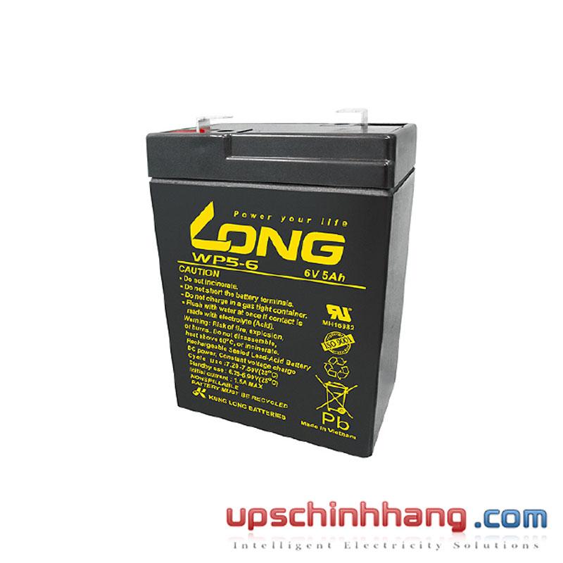 Bình ắc quy kín khí LONG 6V-5Ah (WP5-6)