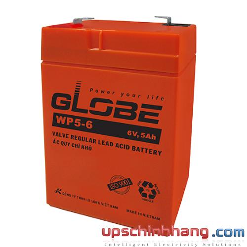 Bình ắc quy kín khí Globe 6V-5Ah (WP5-6)
