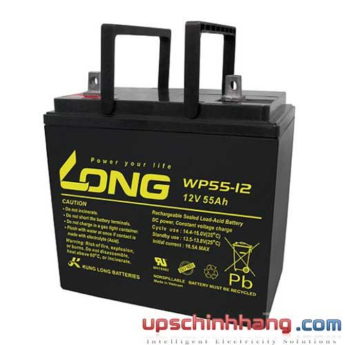 Bình ắc quy kín khí Long 12V-55Ah (WP55-12)