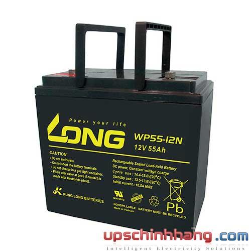 Bình ắc quy kín khí Long 12V-55Ah (WP55-12N)