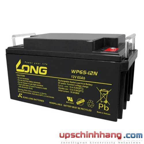 Bình ắc quy kín khí Long 12V-65Ah (WP65-12N)