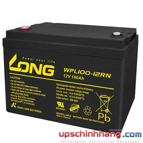 Bình ắc quy kín khí Long 12V-100Ah (WPL100-12RN)