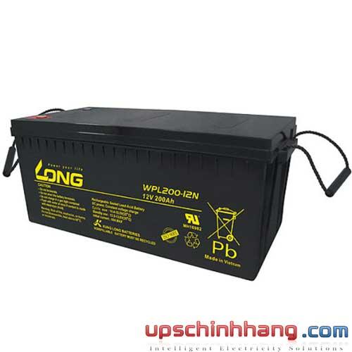 Bình ắc quy kín khí Long 12V-200Ah (WPL200-12N)