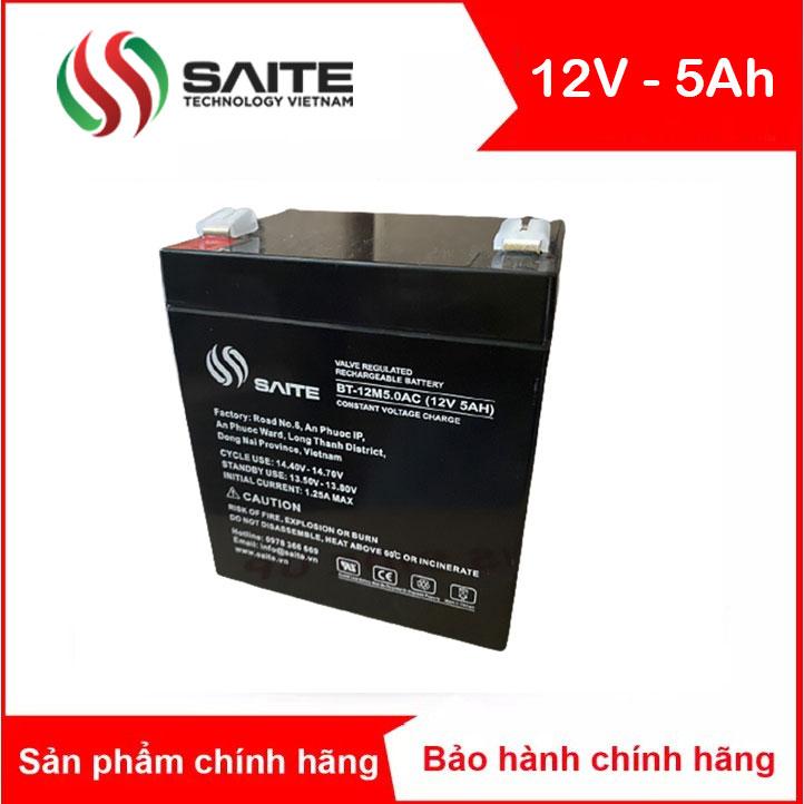 Bình ắc quy kín khí SAITE 12V-5Ah (BT-12M5.0AC)