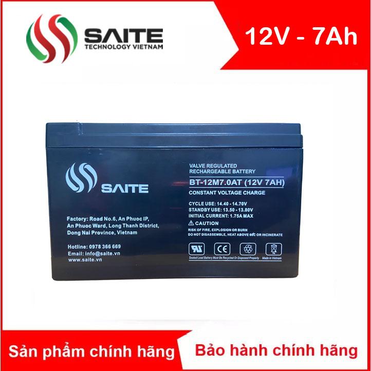 Bình ắc quy kín khí SAITE 12V-7Ah (BT-12M7.0AT)