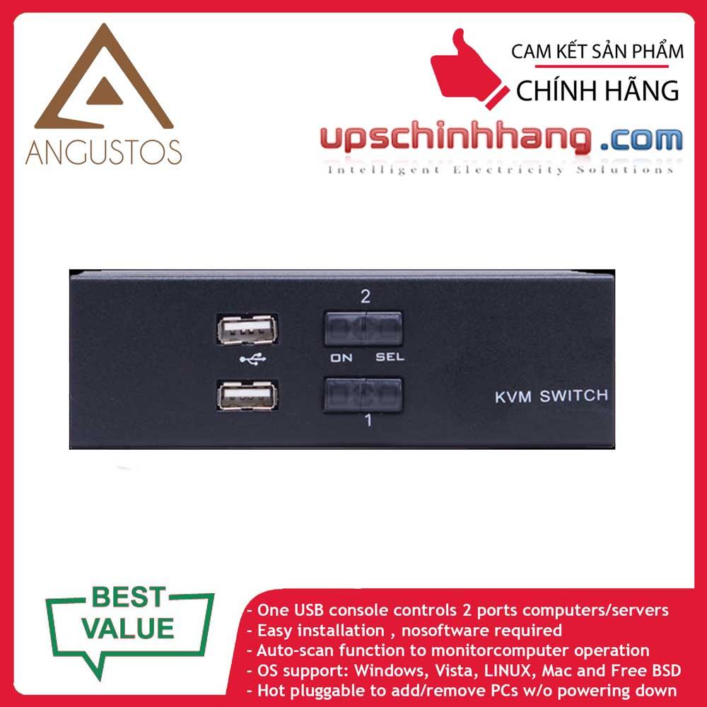 ANGUSTOS AD-V21L - Desktop - 2 Port VGA KVM Switch