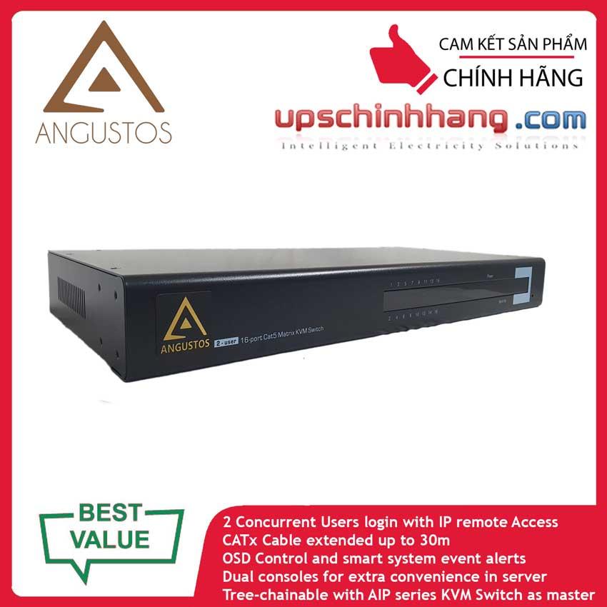 ANGUSTOS AIP-UV216U - 2 User - 16 Port CAT5 Over IP KVM Switch