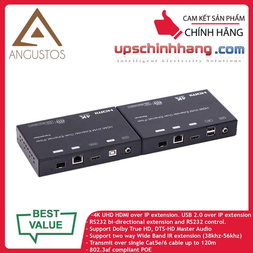 ANGUSTOS KCE812TPK3 - HDMI & USB KVM 4K Extender Over IP
