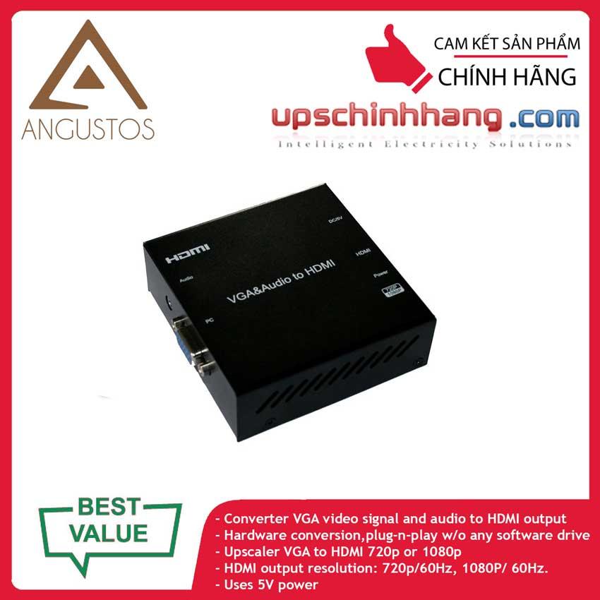 ANGUSTOS KVC98 - VGA to HDMI Converter with Scaler