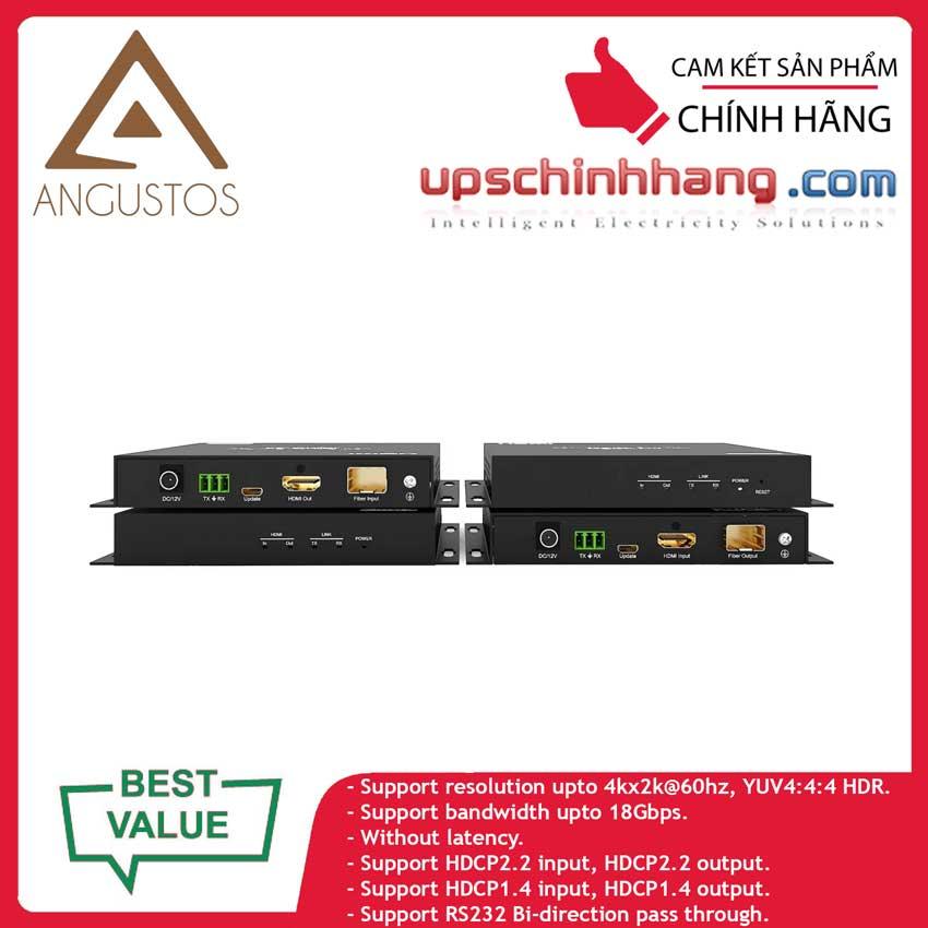 ANGUSTOS KVE804FK6 - HDMI 4K Fiber Extender support 4K@60Hz 4:4:4