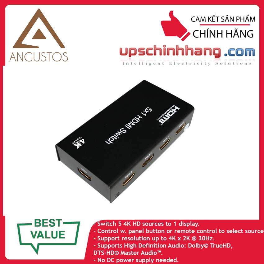ANGUSTOS KVS0501K3 - HDMI Switch 4K 5×1