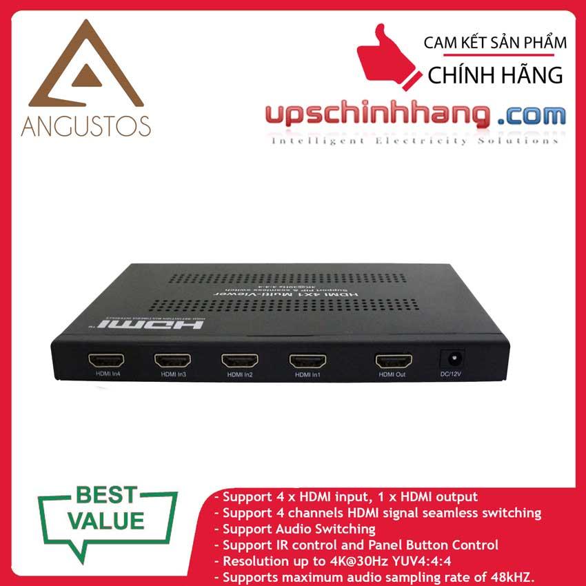 ANGUSTOS KVSMQ0401K3 - 4K HDMI 4×1 Multi-Viewer