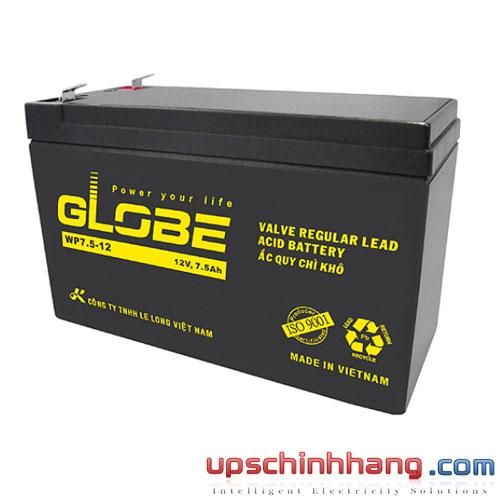 Bình ắc quy kín khí Globe 12V-7.5Ah (WP7.5-12)