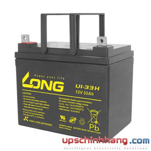 Bình ắc quy kín khí Long 12V-33Ah (U1-33H)