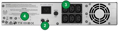 bộ lưu điện APC SMC3000RMI2U mặt sau