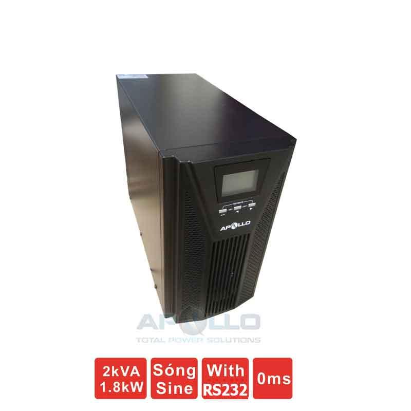 Bộ lưu điện (UPS) APOLLO AP9102S 2KVA (1800W) True Online