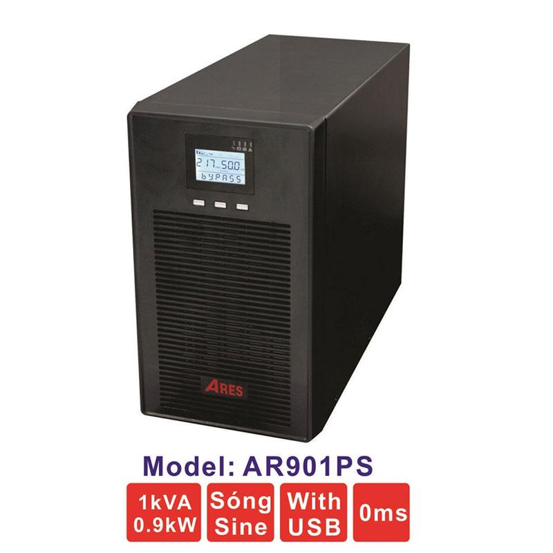 Bộ lưu điện (UPS) ARES AR901PS 1KVA (900W) True Online
