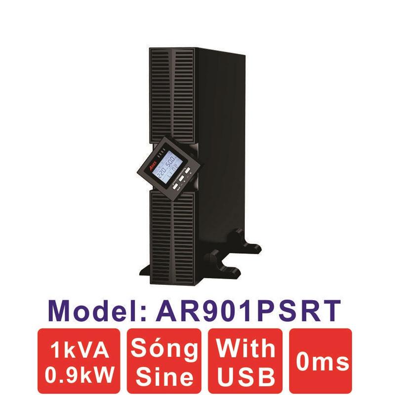 Bộ lưu điện (UPS) ARES AR901PSRT 1KVA (900W) True Online