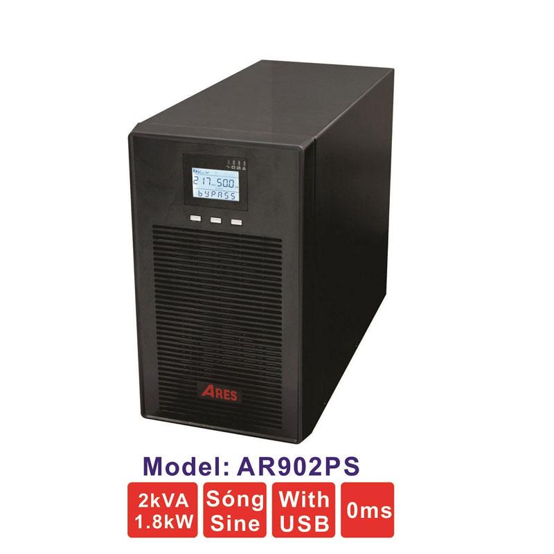Bộ lưu điện (UPS) ARES AR902PS 2KVA (1800W) True Online