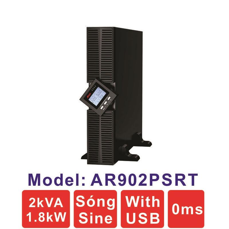 Bộ lưu điện (UPS) ARES AR902PSRT 2KVA (1800W) True Online