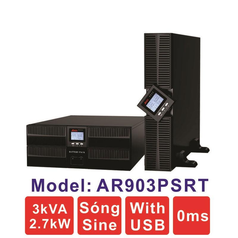 Bộ lưu điện (UPS) ARES AR903PSRT 3KVA (2700W) True Online