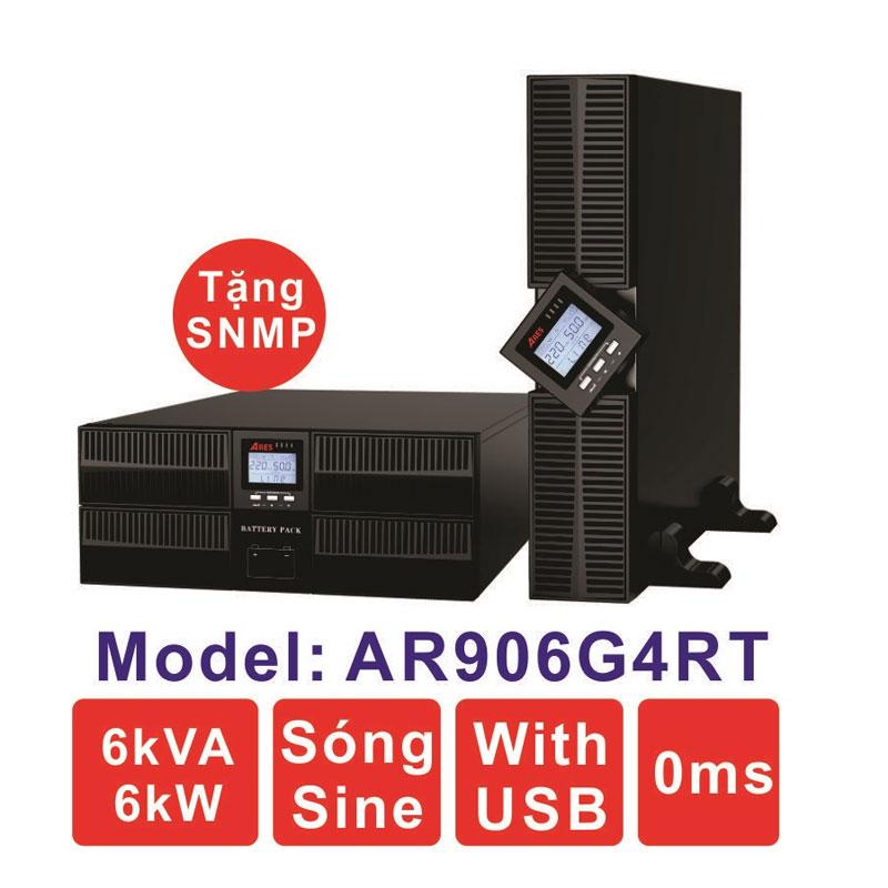 Bộ lưu điện (UPS) ARES AR906G4RT 6KVA (6KW) True Online