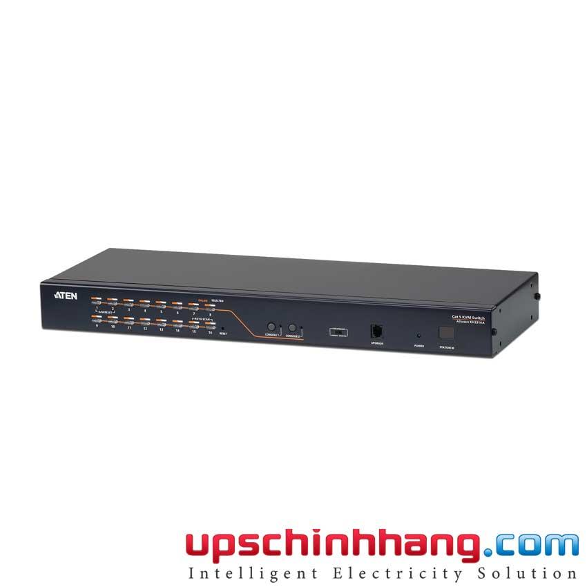 ATEN KH2516A - 2-Console 16-Port Multi-Interface (DisplayPort, HDMI, DVI, VGA) Cat 5 KVM Switch