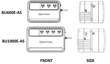 hình ảnh thiết kế bộ lưu điện Cyberpower BU600E/BU1000E