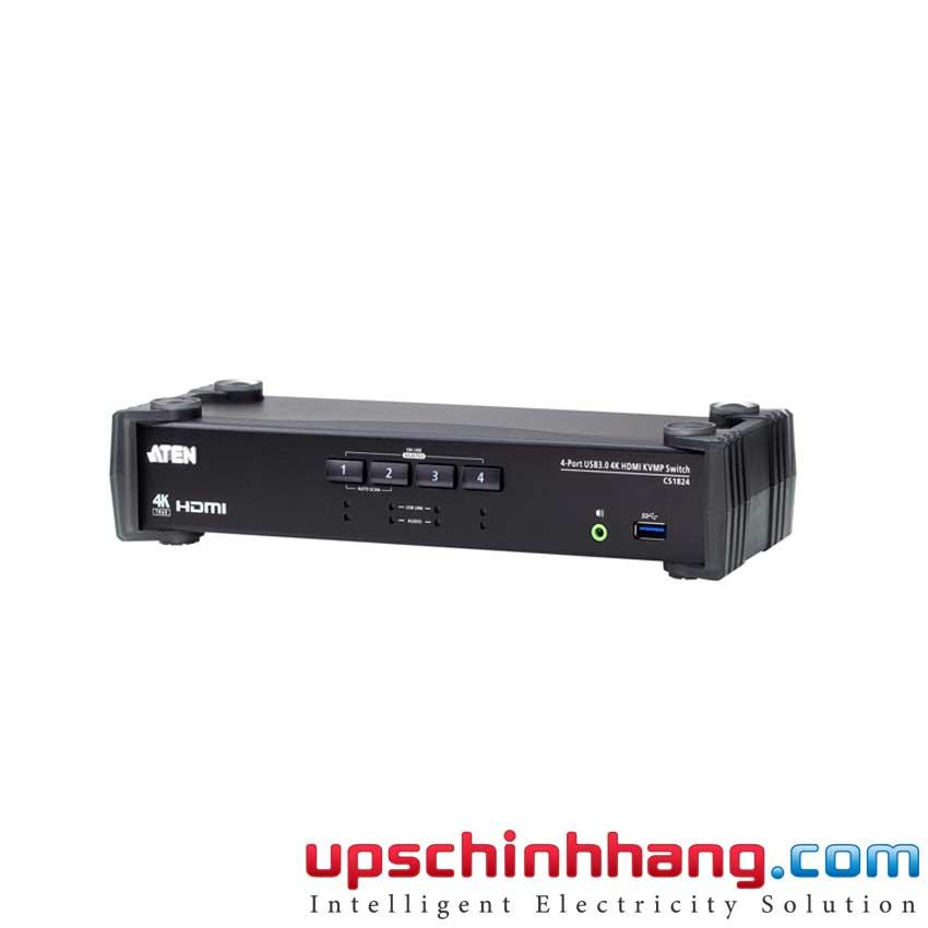 ATEN CS1824 - 4-Port USB 3.0 4K HDMI KVMP™ Switch with Audio Mixer Mode
