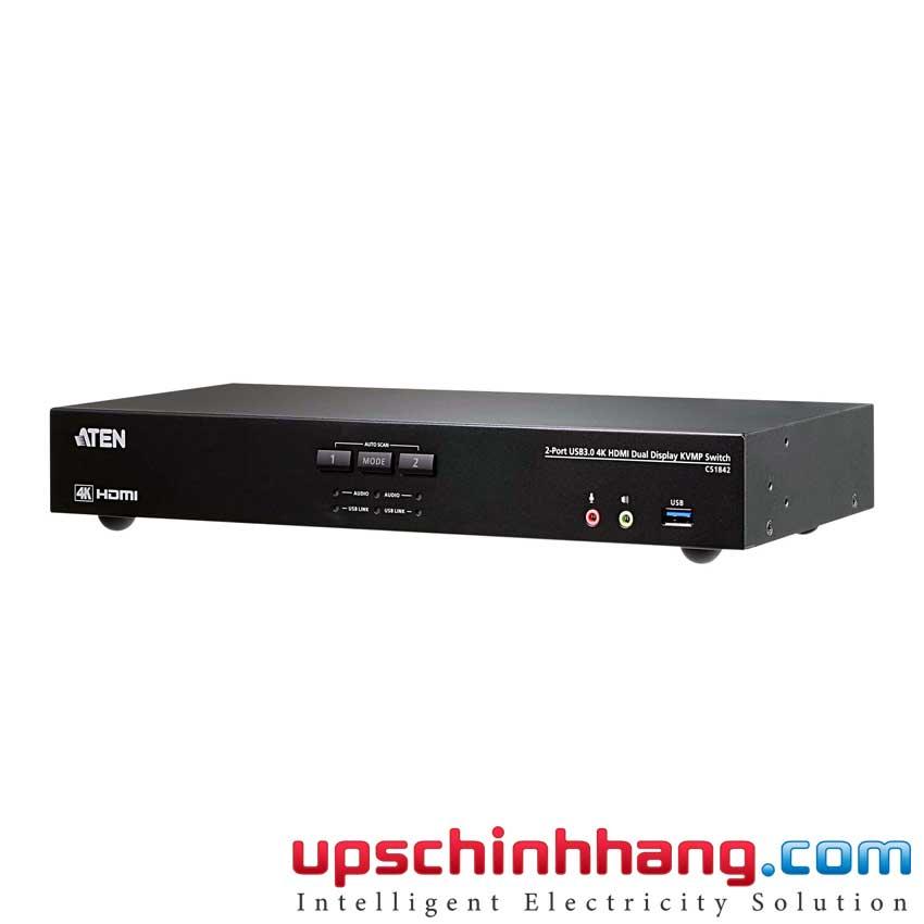 ATEN CS1842 - 2-Port USB 3.0 4K HDMI Dual Display KVMP™ Switch
