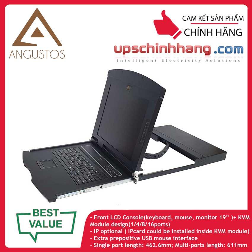 ANGUSTOS AL-V904L - 19 Inch LCD 4 port VGA KVM Single Rail