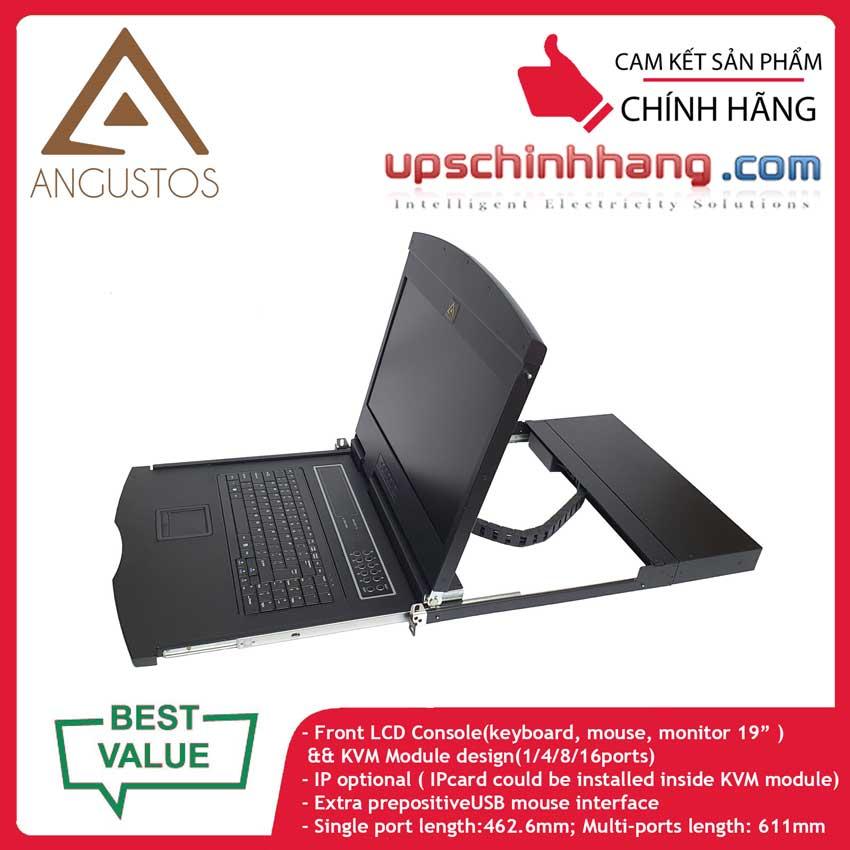 ANGUSTOS AL-UV904L - 19 Inch LCD 4 port CAT5 KVM Single Rail