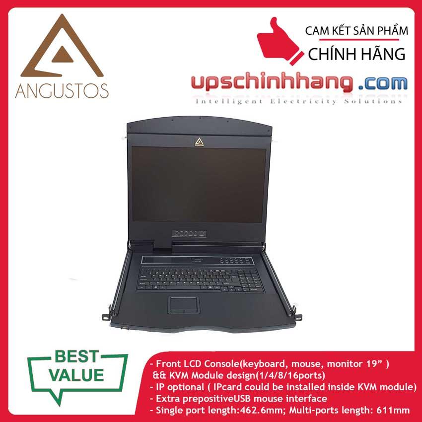 ANGUSTOS AL-UV908L - 19 Inch LCD 8 port CAT5 KVM Single Rail