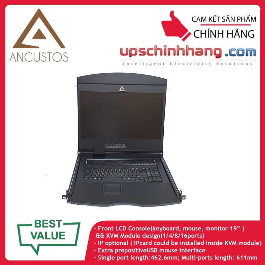 ANGUSTOS AL-UV916L - 19 Inch LCD 16 port CAT5 KVM Single Rail