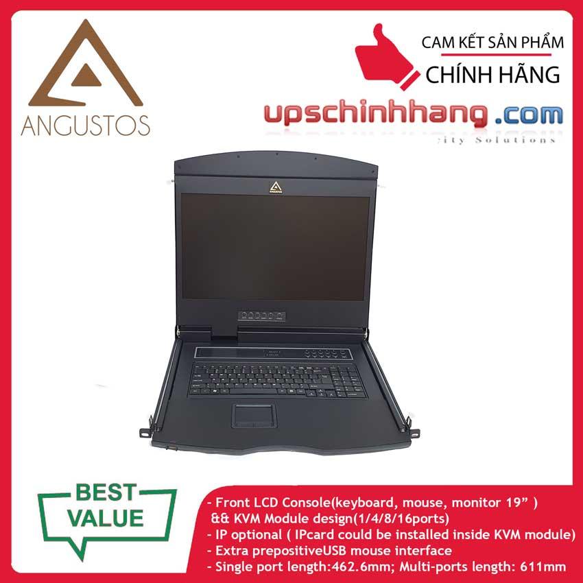 ANGUSTOS AL-UV932L - 19 Inch LCD 32 port CAT5 KVM Single Rail