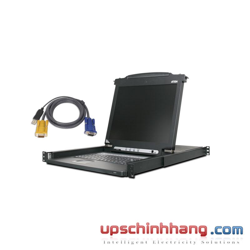 ATEN CL1008MUKIT - 8-Port 17in. Single Rail LCD KVM Bundle