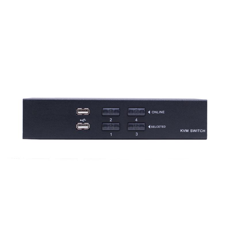 LANBE AS-41UA - 4 port VGA/USB/Audio Desktop KVM Switch